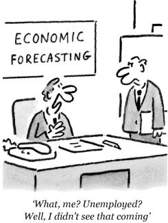 Economic Forecasters Made Unemployed
