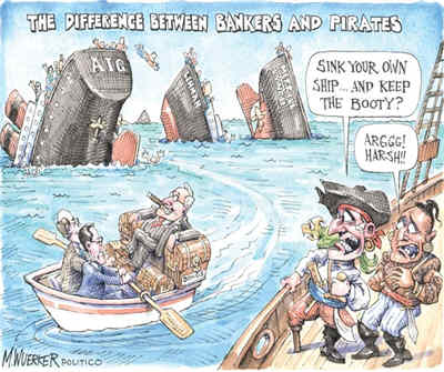 Difference Between Bankers and Pirates