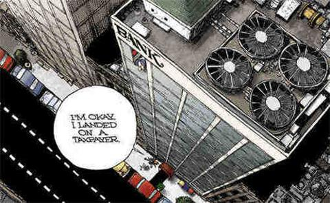 Banker Landing On Taxpayer