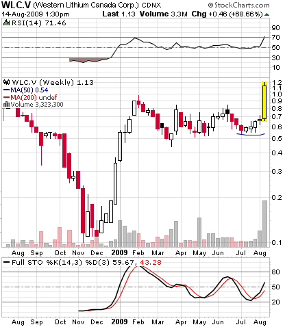 western lithium stock
