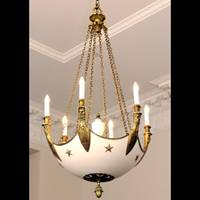 Chandelier for Board member offices, reproduction of design from Chateau Malmaison