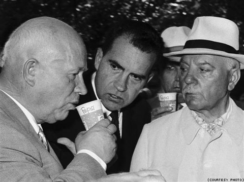 Nikita Khrushchev tasted Pepsi for the first time at the American National Exhibition in Moscow, under Richard Nixon