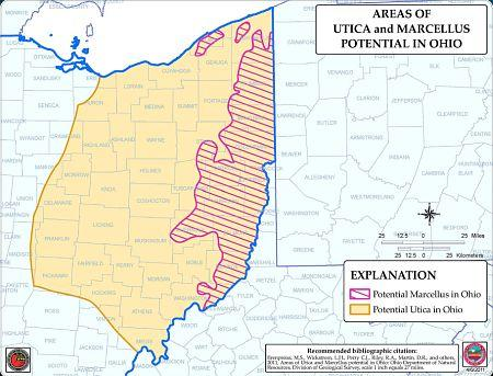 Utica and Marcellus Shale Intersection