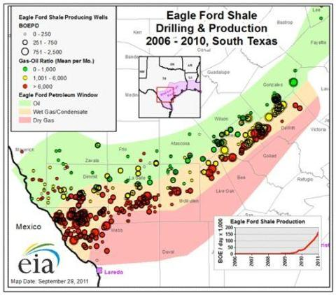 Eagle Ford Shale Drilling 2011