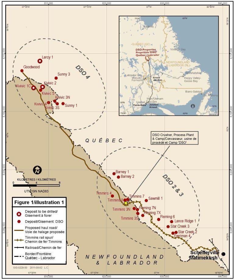 NML DSO Deposit Map