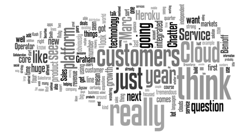 Salesforce Earnings Call Q&A WordCloud