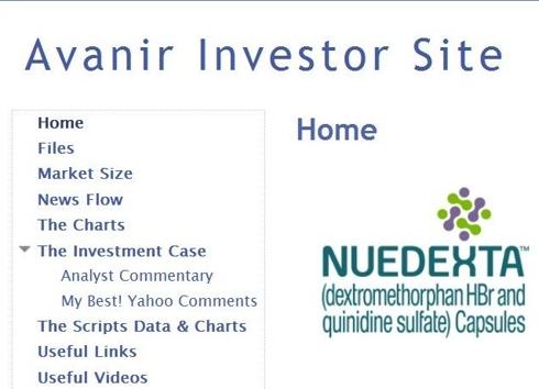 Avanir Investor Site