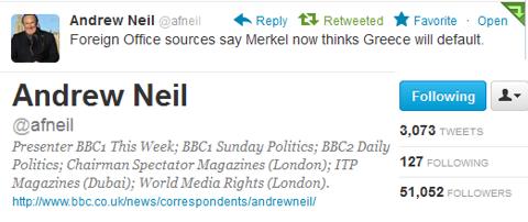 Merkel Greece Will Default BBC Sources