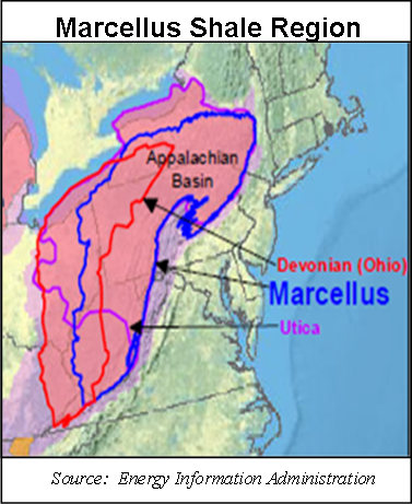 The Marcellus Shalle region contains the Utica and Devonian stacked plays.