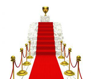Picture of red carpet and gold trophy