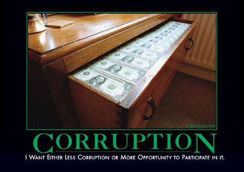 Corruption Demotivator