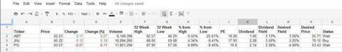 Stock Watchlist using Google Spreadsheet
