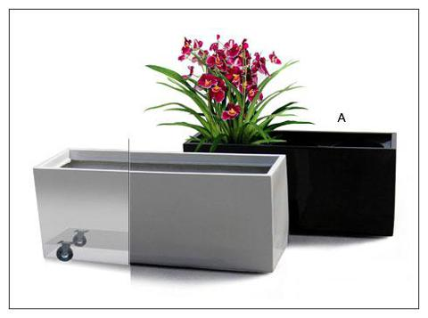 Fibreglass Troughs with Wheels