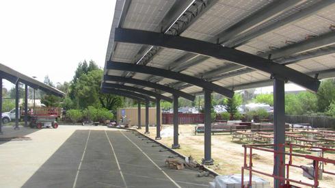 Solar Collectors over JPods Rails