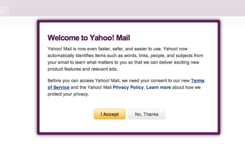 Yahoo! message