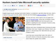Hackers fake security updates