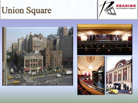 Reading 2012 Annual Meeting Slide 46 - Union Square Theater