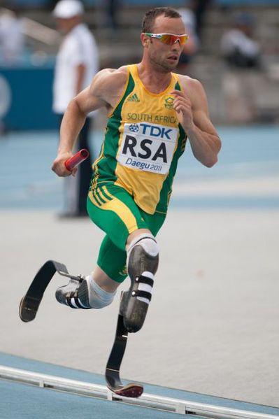 Grit by Oscar Pistorius, Carbon Fibre Blades by Ossur