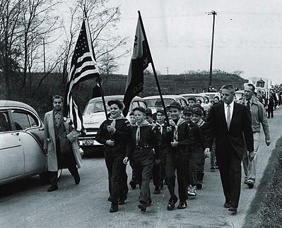 Beachwood Highschool Groundbreaking Parade 1957