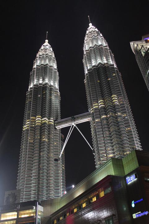 The Petronas Towers at night