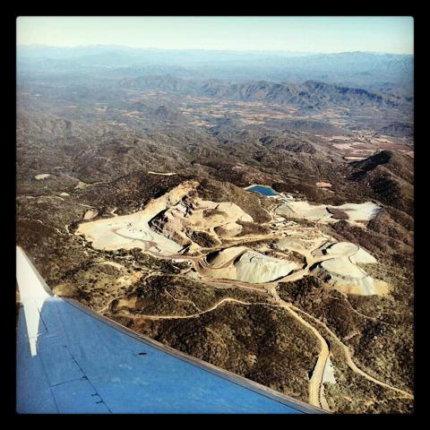 Aerial view of McEwen Mining