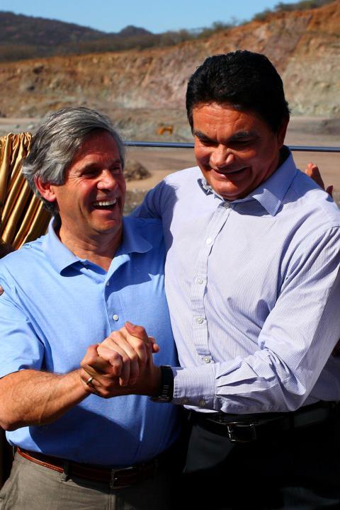 Rob McEwen with Sinaloa Governor Mario Lopez Valdez