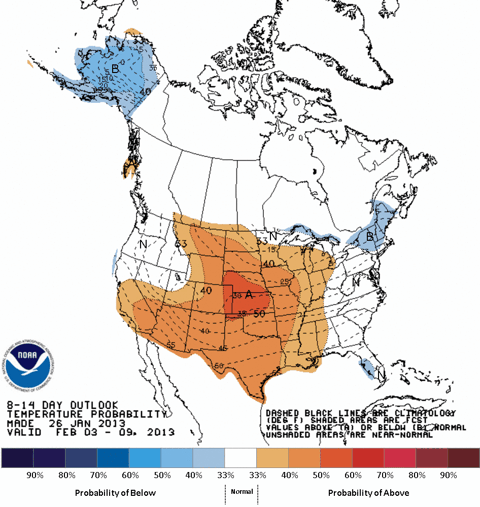 NOAA 8-14 Day Temperature Outlook