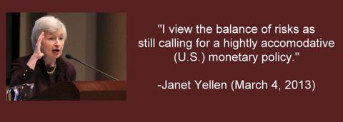 Janet Yellen Federal Reserve Board of Governors Chairman 2014 Nominee quote monetary policy
