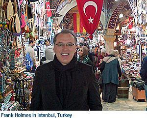 Frank Holmes in Istambul, Turkey