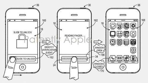 Apple Fingerprint Unlock Patent