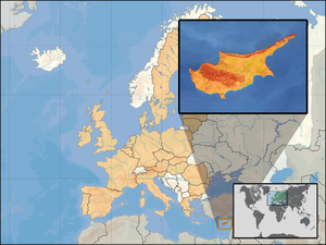 The country of Cyprus. Image Credit: Wikipedia.