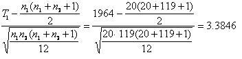 Wilcoxon Equation