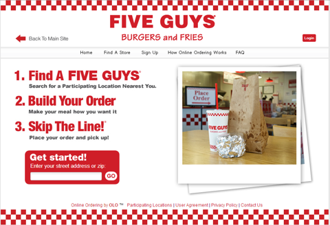 Five Guys On line Ordering