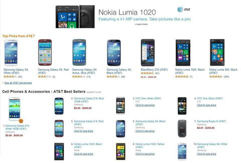 Nokia Lumia 1020 in AT&T