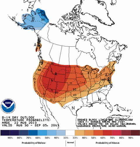 NOAA 8-14 Weather Outlook