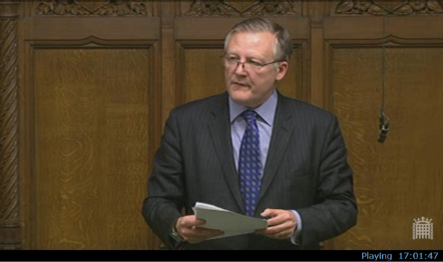 British MP Kevan Jones in the House of Commons